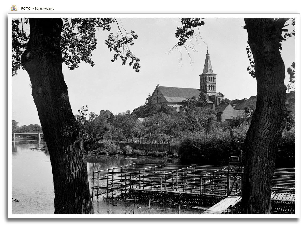 Meseritz - Międzyrzecz - Widok z nad Obry - lata 1940/50