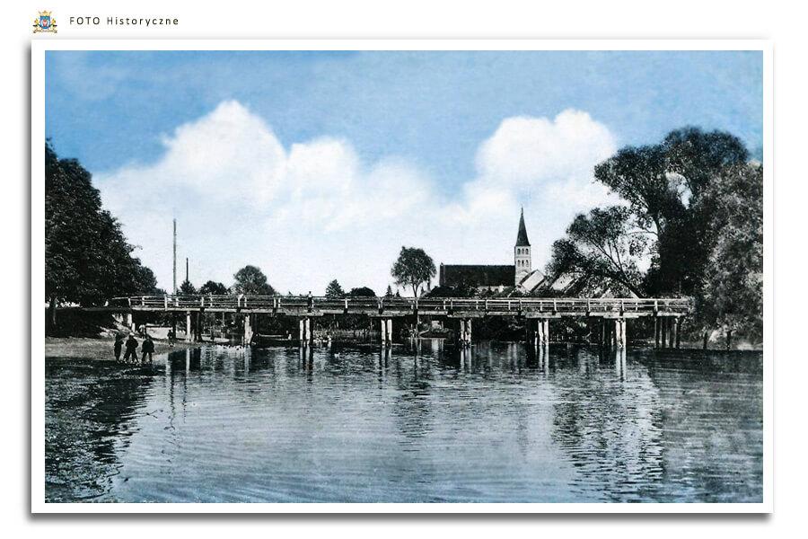 Meseritz - Międzyrzecz - Widokówka z początku XX w. Przedstawia mostek przez Obrę, który łączył ówczesny majątek ziemski Zamek Międzyrzecz - Schloss Meseritz - z należącym do niego folwarkiem, który znajdował się w Winnicy po drugiej stronie Obry.