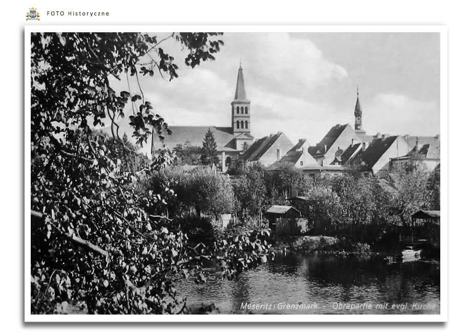 Meseritz - Międzyrzecz - Widok na Kościół pw. św. Wojciecha