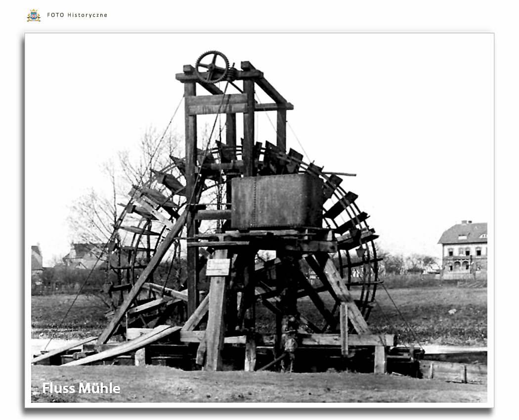 Meseritz - Międzyrzecz - Młyn na rzece Obra. Wassermühle auf dem Fluss Obra.