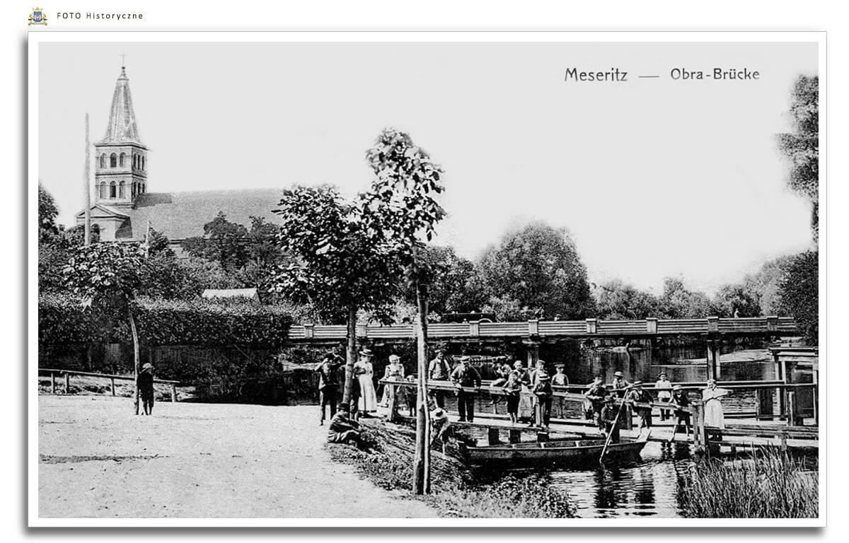 Meseritz - Międzyrzecz - Most przez Obrę z początku XX wieku