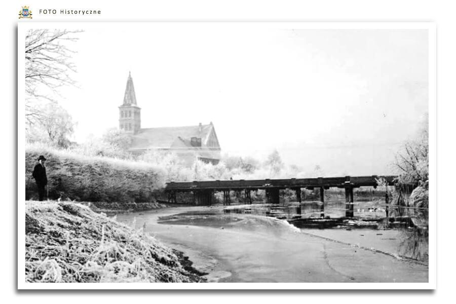 Meseritz - Międzyrzecz - Most przez Obrę zimą - ok. 1930 r.