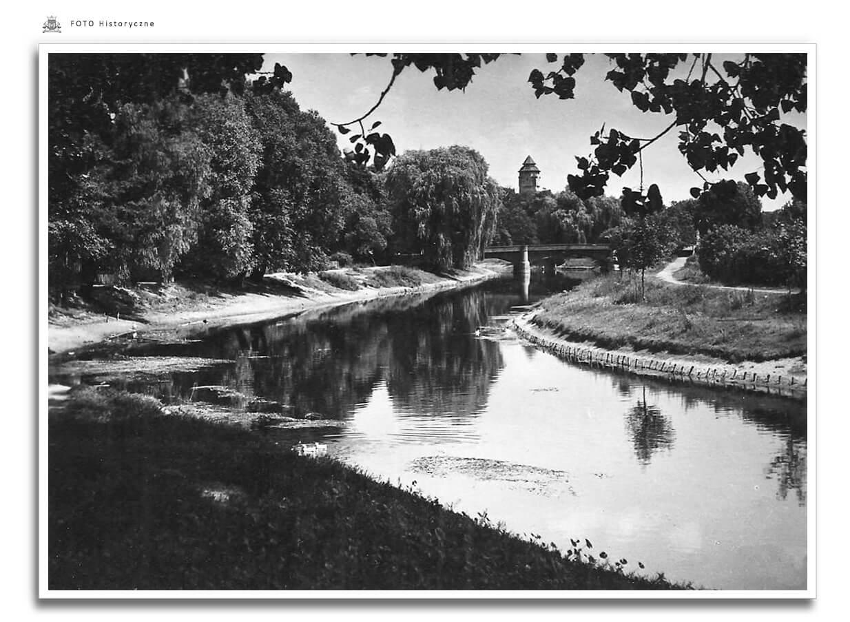Meseritz - Międzyrzecz - Widok na Obrę - lata 60-te