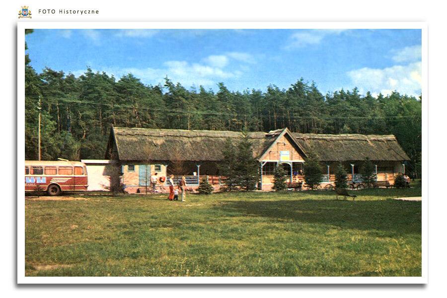 Meseritz - Międzyrzecz - Głębokie ok. 1975 r. Kawiarnia Strzecha w ośrodku wypoczynkowym nad jeziorem.