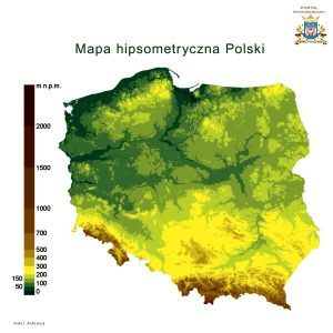 Mapa hipsometryczna Polski