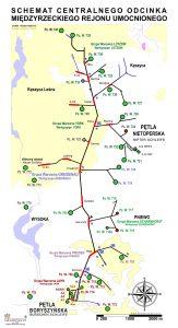 Schemat Centralnego odcinka Międzyrzeckiego Rejonu Umocnionego