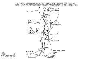 Kierunki działania Armii Czerwonej w trakcie podejścia i pokonania Międzyrzeckiego rejonu Umocnionego