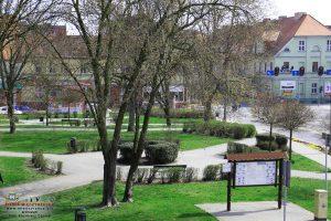 Międzyrzecz - widok na Planty Miejskie