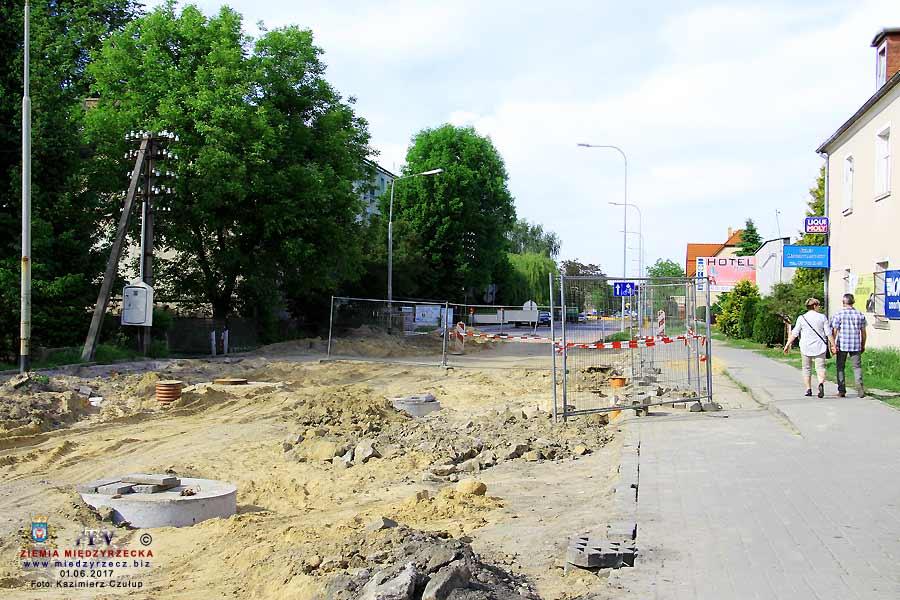Remont ulicy Świerczewskiego w Międzyrzeczu