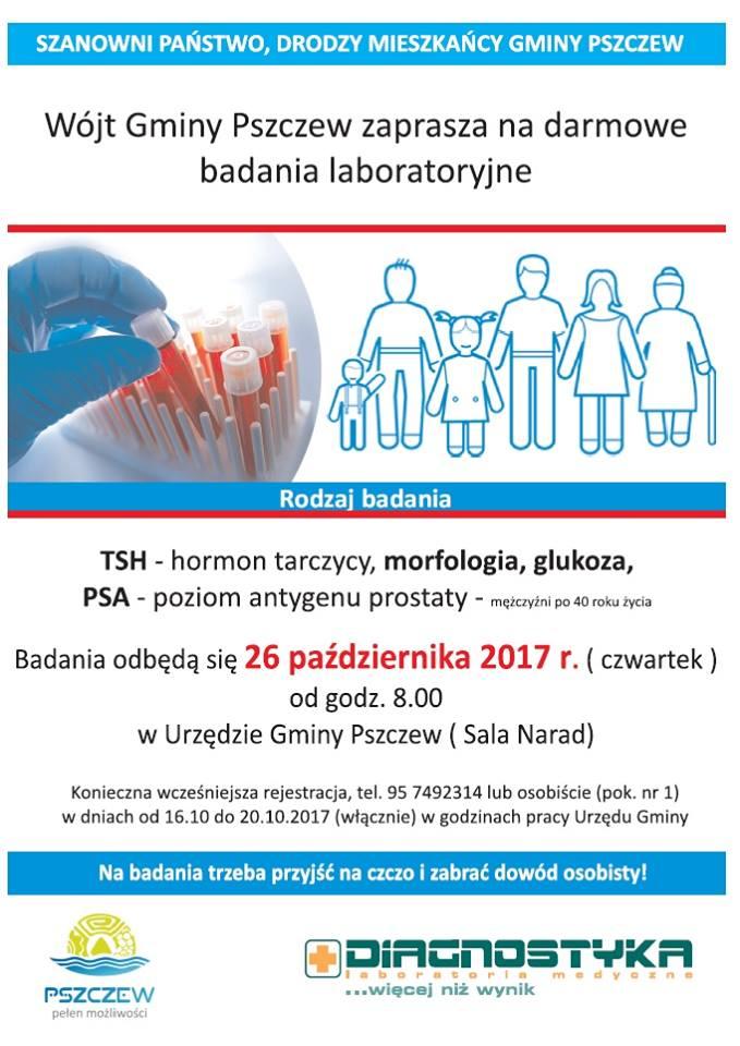 Bezpłatne badania dla mieszkańców Gminy Pszczew