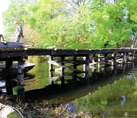 Remont mostu przez Obrę w Świętym Wojciechu