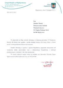 Pismo Burmistrza Międzyrzecza