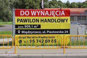 Pawilon handlowy na osiedlu Piastowskim w Międzyrzeczu