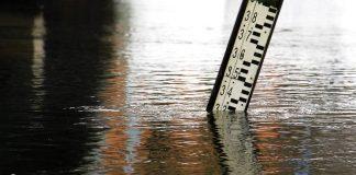 Poziom wody w Obrze w Międzyrzeczu