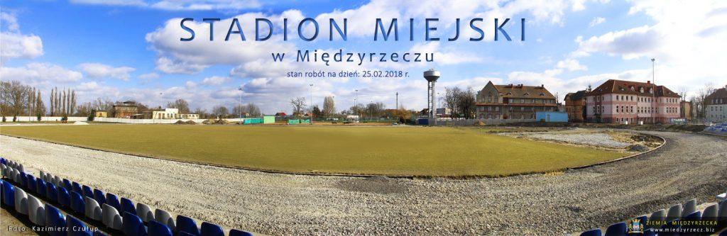 Panorama Miejskiego Stadionu w Międzyrzeczu