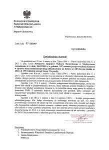 Pismo Powiatowego inspektora Nadzoru Budowlanego w Międzyrzeczu