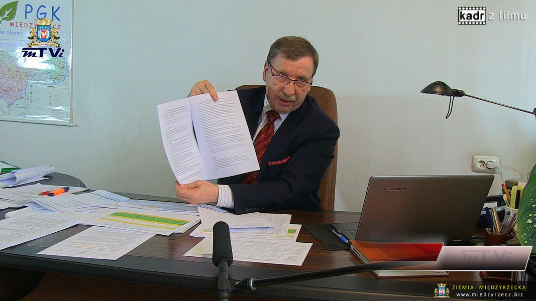 Konferencja prasowa w PGK w Międzyrzeczu