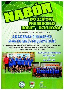 Akademia Piłkarska Warta Girls Plakat