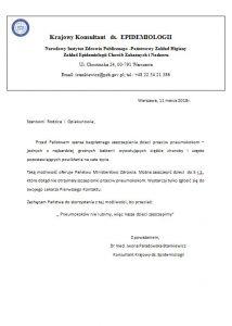 Komunikat - szczepienia przeciwko pneumokokom