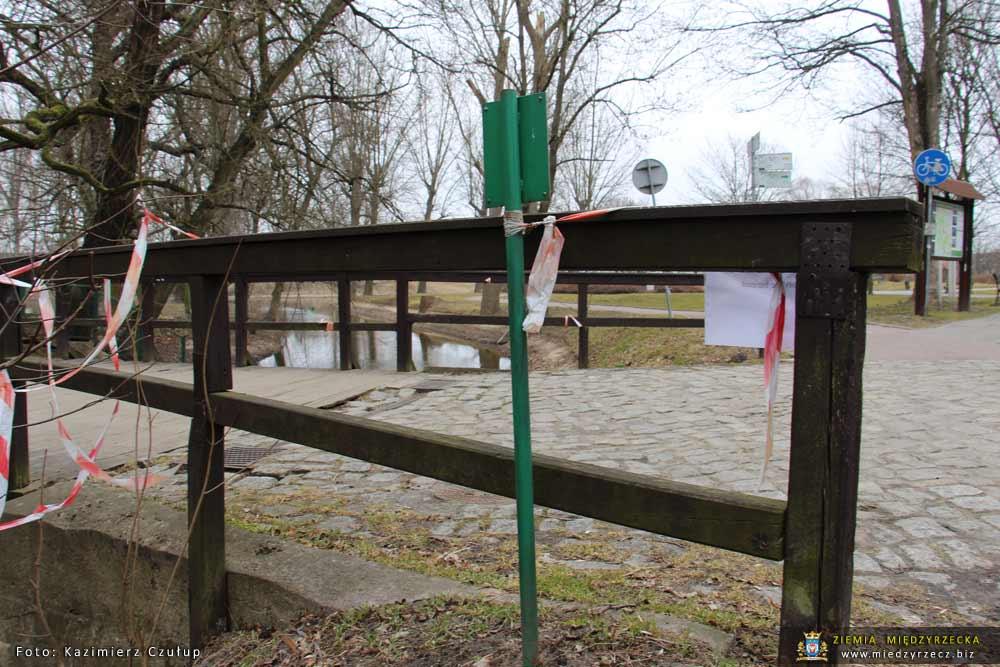 Most przez Paklicę do Muzeum Ziemi Międzyrzeckiej - 26 marca 2018 roku
