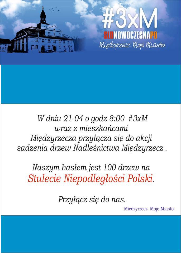100 drzew na Stulecie Niepodległości Polski