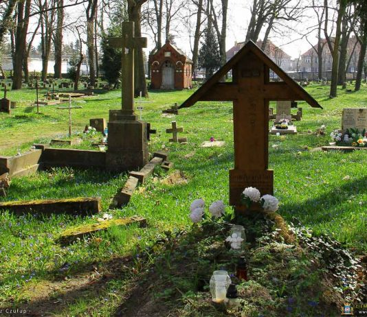 Wiosenne akcenty na cmentarzu katolickim
