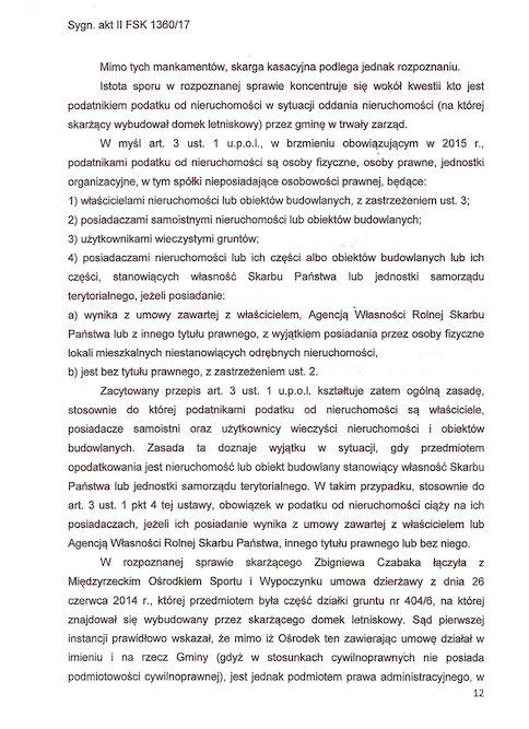Wyrok Naczelnego Sądu Administracyjnego w Warszawie