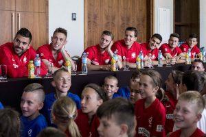 Spotkanie z zawodnikami i sztabem szkoleniowym reprezentacji Polski