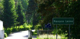 Kęszyca Leśna - wjazd do miejscowości