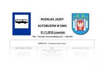 Rozkład jazdy autobusów na 1 Listopada