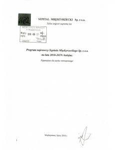 Program naprawczy Szpitala Międzyrzeckiego Sp. z o.o. na lata 2018-2019 i kolejne