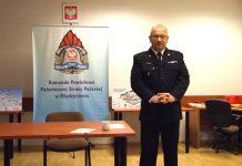 st. bryg. Marek Harkot - Komendanta Powiatowej Państwowej Straży Pożarnej w Międzyrzeczu