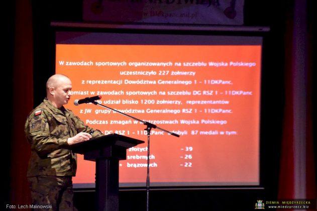 Mjr Tomasz Siemion, szef sekcji wychowania fizycznego i sportu Czarnej Dywizji,
