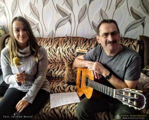 Anna Porowska i Zdzisław Musiał podczas ostatnich uzgodnień repertuaru i prób wokalnych.