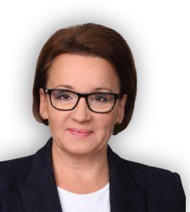 Anna Elżbieta Zalewska, minister edukacji narodowej.