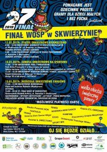 Sztab WOŚP Skwierzyńskiego Ośrodka Kultury serdecznie zaprasza na koncert finałowy