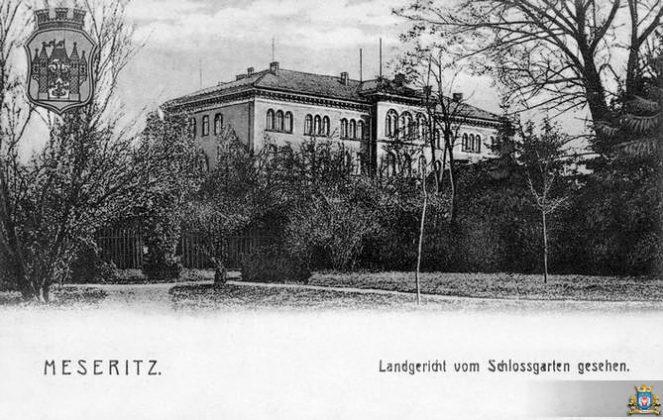 Budynek Sądu Ziemskiego w Międzyrzeczu - historia
