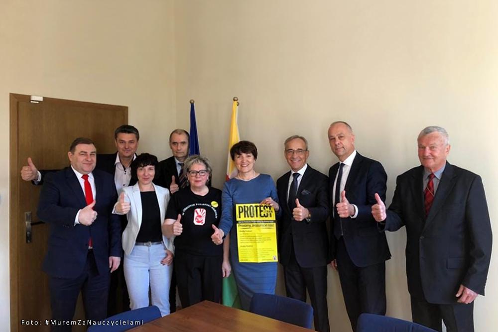 Strajk nauczycieli w województwie lubuskim
