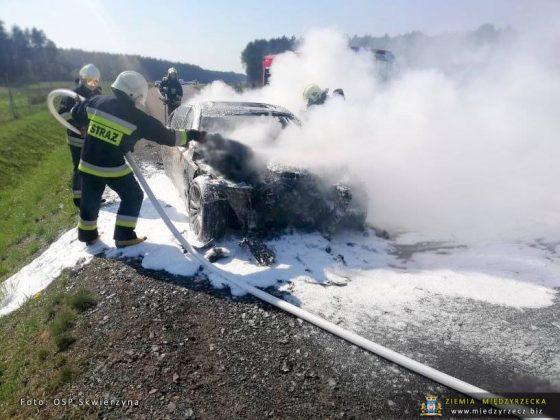 Pożar BMW na S3