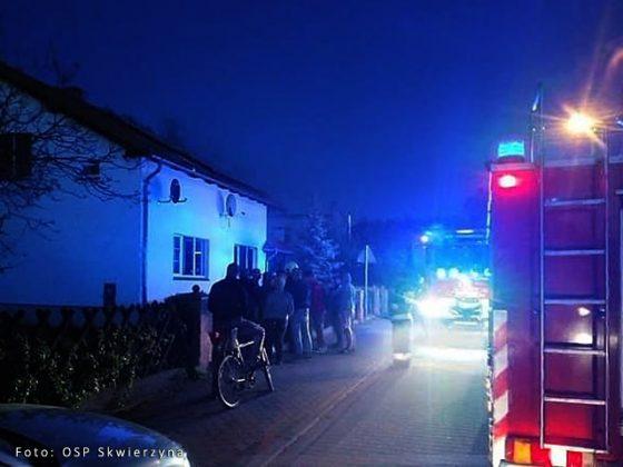 Pożar na ulicy Łąkowej w Skwierzynie
