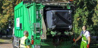 Wiosenne mycie i dezynfekcja pojemników na odpady komunalne w Międzyrzeczu