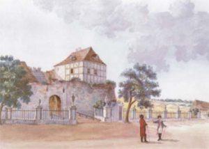 Zamek w Międzyrzeczu na dawnych akwarelach