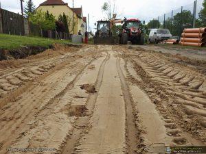Remont drogi w Kaławie