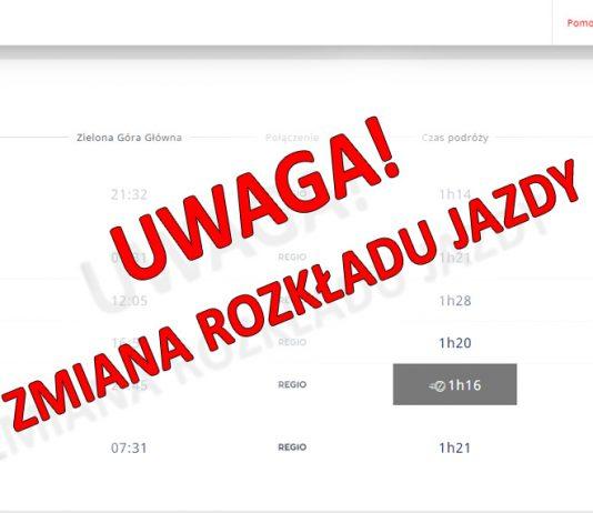 Od 9 czerwca br. będzie obowiązywał zmieniony rozkład jazdy pociągów na terenie województwa lubuskiego.