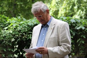 "Albrecht Fischer von Mollard, przewodniczący stowarzyszenia ""Heimatkreis Meseritz i Birnbaum"""