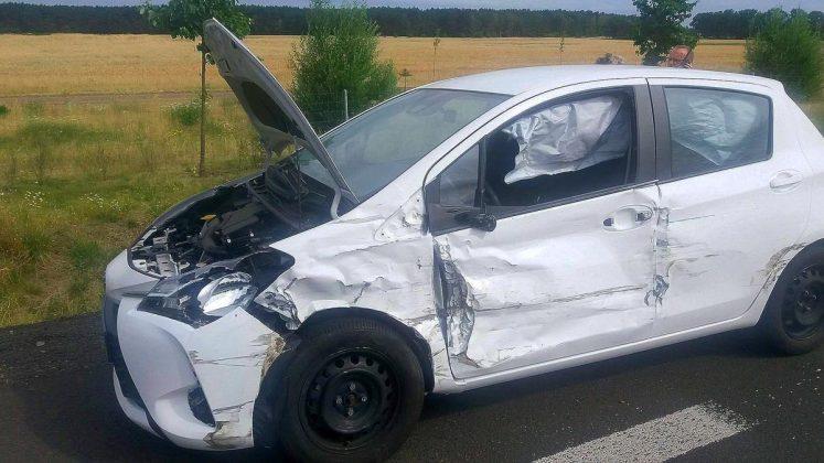Zderzenie Hyundaia z Volkswagenem