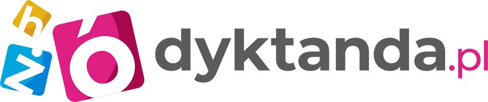 Logo Dyktanda Wersja Pozioma Na Białe Tło