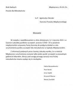 Pismo Wniosek Radnych Powiatowych