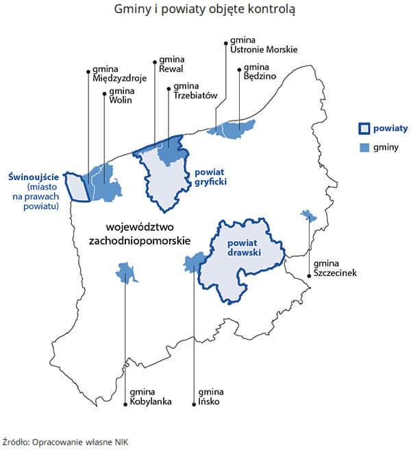 f 3 nik nieruchomosci zachodniopomorskie 3 skontrolowane gminy i powiaty