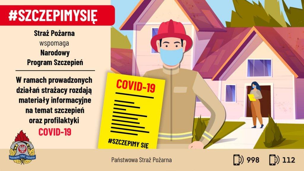informacyjna akcja straŻakÓw #szczepimysię 002
